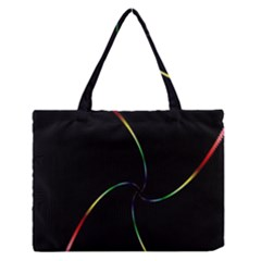 Digital Computer Graphic Medium Zipper Tote Bag