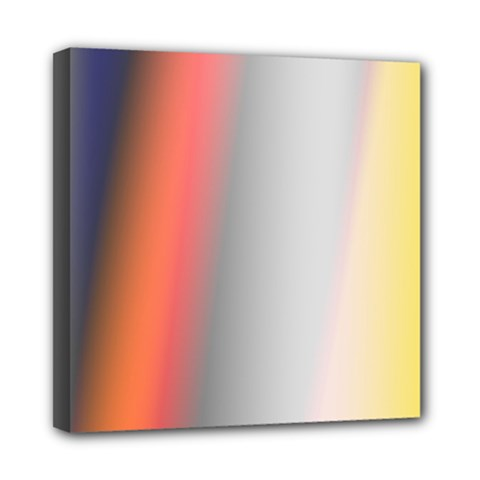 Digitally Created Abstract Colour Blur Background Mini Canvas 8  x 8