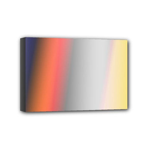 Digitally Created Abstract Colour Blur Background Mini Canvas 6  x 4