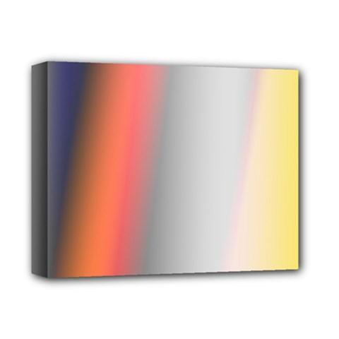 Digitally Created Abstract Colour Blur Background Deluxe Canvas 14  x 11