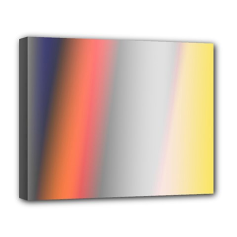 Digitally Created Abstract Colour Blur Background Deluxe Canvas 20  x 16