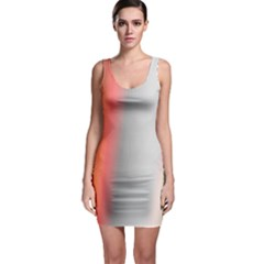 Digitally Created Abstract Colour Blur Background Sleeveless Bodycon Dress