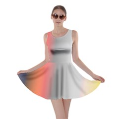 Digitally Created Abstract Colour Blur Background Skater Dress