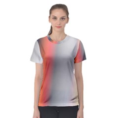 Digitally Created Abstract Colour Blur Background Women s Sport Mesh Tee