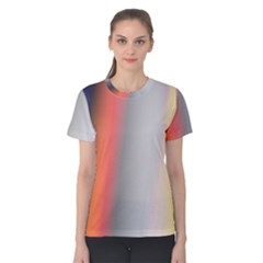 Digitally Created Abstract Colour Blur Background Women s Cotton Tee