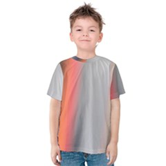 Digitally Created Abstract Colour Blur Background Kids  Cotton Tee