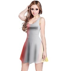 Digitally Created Abstract Colour Blur Background Reversible Sleeveless Dress