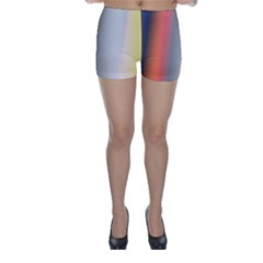 Digitally Created Abstract Colour Blur Background Skinny Shorts