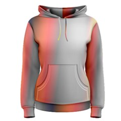 Digitally Created Abstract Colour Blur Background Women s Pullover Hoodie