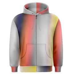 Digitally Created Abstract Colour Blur Background Men s Zipper Hoodie