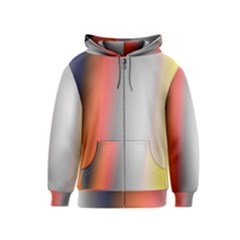 Digitally Created Abstract Colour Blur Background Kids  Zipper Hoodie