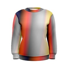 Digitally Created Abstract Colour Blur Background Women s Sweatshirt