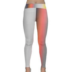 Digitally Created Abstract Colour Blur Background Classic Yoga Leggings