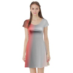 Digitally Created Abstract Colour Blur Background Short Sleeve Skater Dress