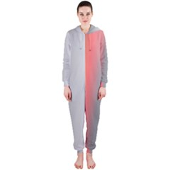 Digitally Created Abstract Colour Blur Background Hooded Jumpsuit (ladies)