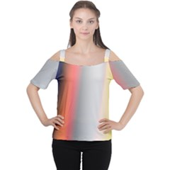 Digitally Created Abstract Colour Blur Background Women s Cutout Shoulder Tee