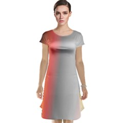 Digitally Created Abstract Colour Blur Background Cap Sleeve Nightdress