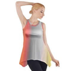 Digitally Created Abstract Colour Blur Background Side Drop Tank Tunic