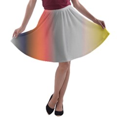 Digitally Created Abstract Colour Blur Background A-line Skater Skirt
