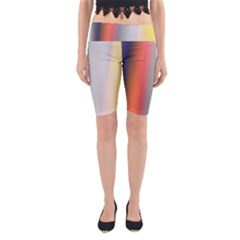 Digitally Created Abstract Colour Blur Background Yoga Cropped Leggings