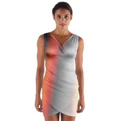 Digitally Created Abstract Colour Blur Background Wrap Front Bodycon Dress