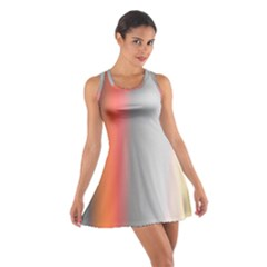 Digitally Created Abstract Colour Blur Background Cotton Racerback Dress