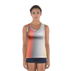 Digitally Created Abstract Colour Blur Background Women s Sport Tank Top