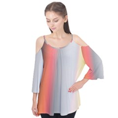 Digitally Created Abstract Colour Blur Background Flutter Tees