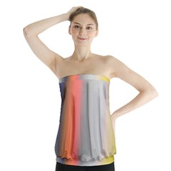 Digitally Created Abstract Colour Blur Background Strapless Top