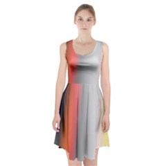 Digitally Created Abstract Colour Blur Background Racerback Midi Dress