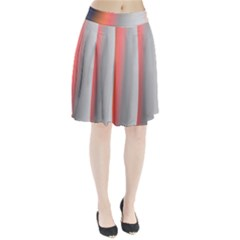 Digitally Created Abstract Colour Blur Background Pleated Skirt