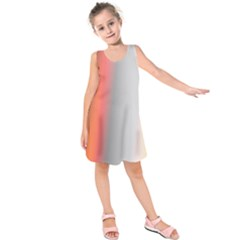 Digitally Created Abstract Colour Blur Background Kids  Sleeveless Dress