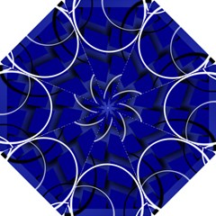 Blue Abstract Pattern Rings Abstract Hook Handle Umbrellas (small)