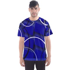 Blue Abstract Pattern Rings Abstract Men s Sport Mesh Tee