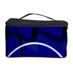 Blue Abstract Pattern Rings Abstract Cosmetic Storage Case