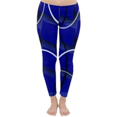 Blue Abstract Pattern Rings Abstract Classic Winter Leggings