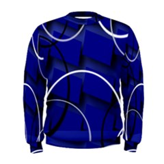 Blue Abstract Pattern Rings Abstract Men s Sweatshirt
