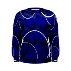 Blue Abstract Pattern Rings Abstract Women s Sweatshirt