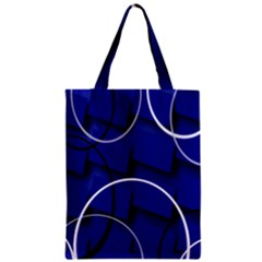 Blue Abstract Pattern Rings Abstract Zipper Classic Tote Bag