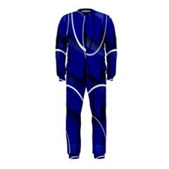 Blue Abstract Pattern Rings Abstract OnePiece Jumpsuit (Kids)