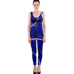 Blue Abstract Pattern Rings Abstract OnePiece Catsuit