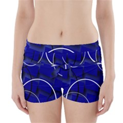 Blue Abstract Pattern Rings Abstract Boyleg Bikini Wrap Bottoms