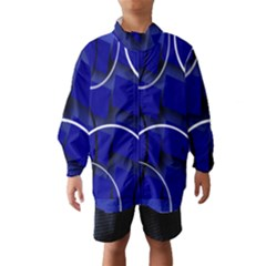 Blue Abstract Pattern Rings Abstract Wind Breaker (kids)