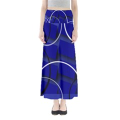 Blue Abstract Pattern Rings Abstract Maxi Skirts