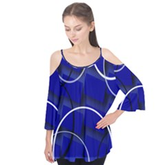 Blue Abstract Pattern Rings Abstract Flutter Tees