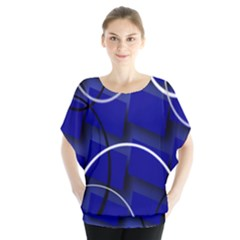 Blue Abstract Pattern Rings Abstract Blouse