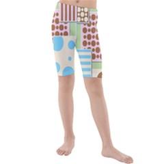 Part Background Image Kids  Mid Length Swim Shorts
