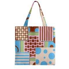 Part Background Image Zipper Grocery Tote Bag