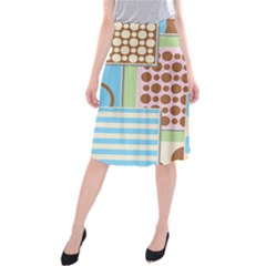 Part Background Image Midi Beach Skirt