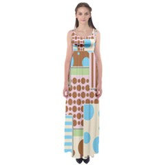 Part Background Image Empire Waist Maxi Dress